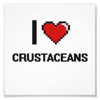 Amo el diseño de Digitaces de los crustáceos Foto
