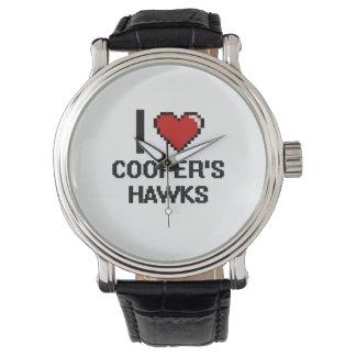 Amo el diseño de Digitaces de los halcones del Relojes De Pulsera