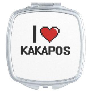 Amo el diseño de Digitaces de los Kakapos Espejos De Maquillaje