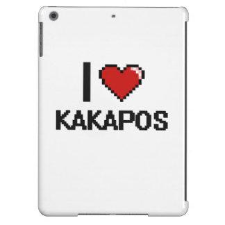 Amo el diseño de Digitaces de los Kakapos Funda Para iPad Air