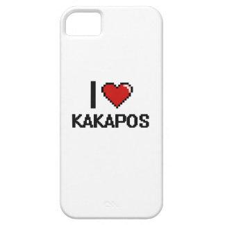 Amo el diseño de Digitaces de los Kakapos Funda Para iPhone 5 Barely There