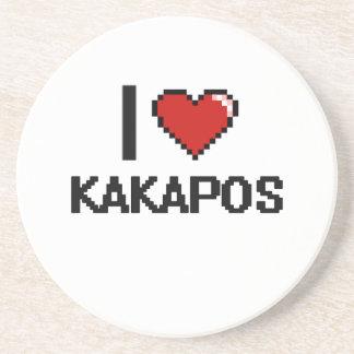 Amo el diseño de Digitaces de los Kakapos Posavasos De Arenisca