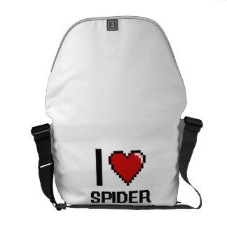 Amo el diseño de Digitaces de los monos de araña Bolsa Messenger