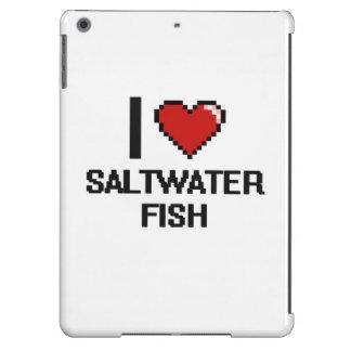 Amo el diseño de Digitaces de los peces de agua Funda Para iPad Air