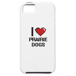 Amo el diseño de Digitaces de los perros de las iPhone 5 Funda
