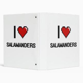 Amo el diseño de Digitaces de los Salamanders Carpeta 2,5 Cm