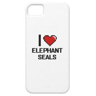 Amo el diseño de Digitaces de los sellos de iPhone 5 Carcasas