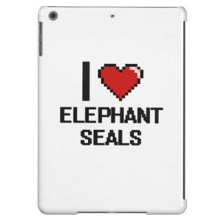 Amo el diseño de Digitaces de los sellos de Funda Para iPad Air