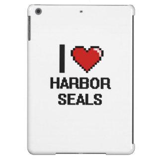 Amo el diseño de Digitaces de los sellos de puerto Funda Para iPad Air