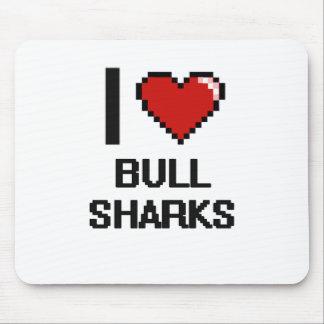 Amo el diseño de Digitaces de los tiburones de Alfombrilla De Ratón
