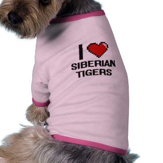 Amo el diseño de Digitaces de los tigres Camiseta Con Mangas Para Perro