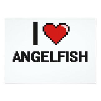 """Amo el diseño de Digitaces del Angelfish Invitación 5"""" X 7"""""""