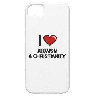 Amo el diseño de Digitaces del judaísmo y del Funda Para iPhone 5 Barely There