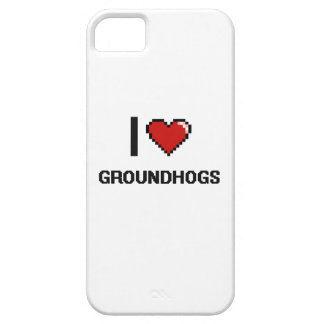 Amo el diseño de Groundhogs Digital iPhone 5 Carcasa