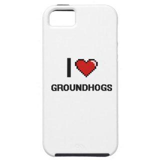 Amo el diseño de Groundhogs Digital iPhone 5 Coberturas