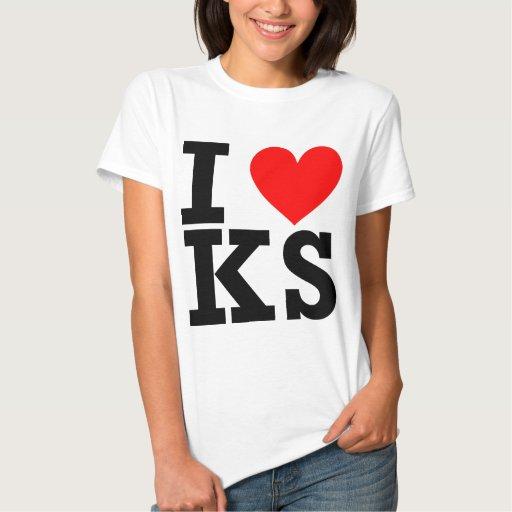 Amo el diseño de Kansas Camisas