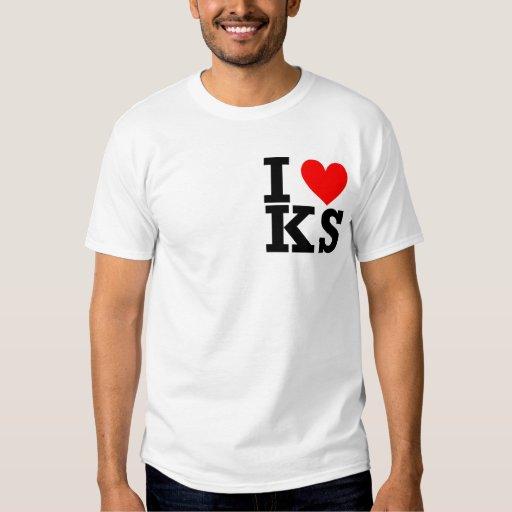 Amo el diseño de Kansas Playeras