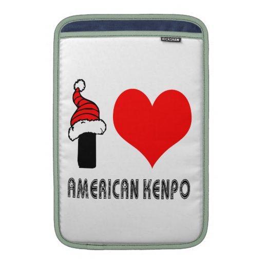 Amo el diseño de Kenpo del americano Funda Para Macbook Air