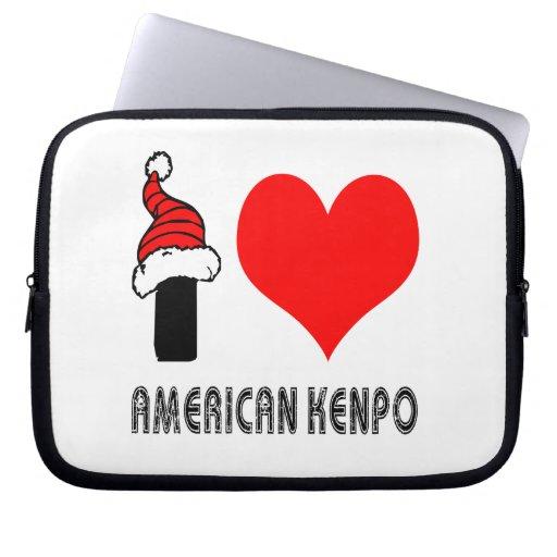 Amo el diseño de Kenpo del americano Fundas Portátiles