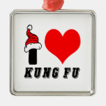 Amo el diseño de Kung Fu Adorno De Navidad
