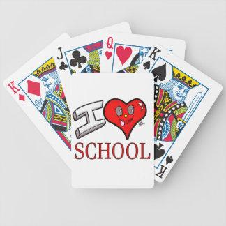 Amo el diseño de la escuela para los principiantes baraja de cartas bicycle