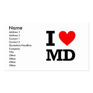 Amo el diseño de Maryland Tarjetas De Visita