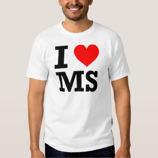 Amo el diseño de Mississippi Playeras