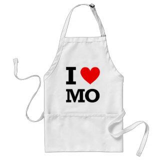 Amo el diseño de Missouri Delantal