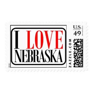 Amo el diseño de Nebraska Sellos
