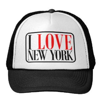 Amo el diseño de Nueva York Gorros Bordados