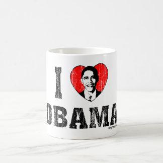 Amo el diseño de Obama Taza De Café