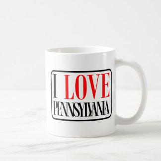 Amo el diseño de Pennsylvania Taza
