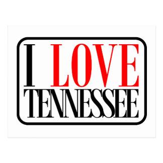 Amo el diseño de Tennessee Postales