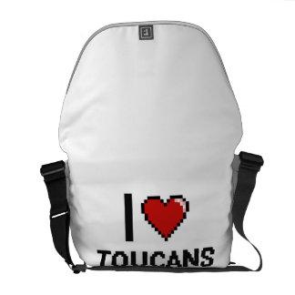 Amo el diseño de Toucans Digital Bolsas De Mensajería