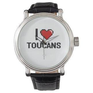 Amo el diseño de Toucans Digital Relojes De Pulsera