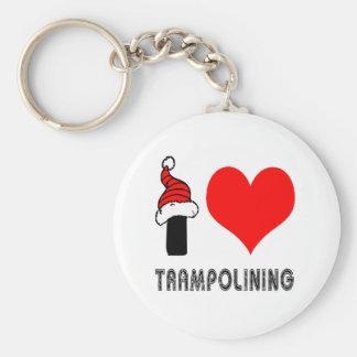 Amo el diseño de Trampolining Llavero Redondo Tipo Pin