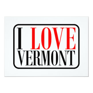 """Amo el diseño de Vermont Invitación 5"""" X 7"""""""
