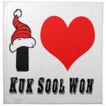 Amo el diseño ganado Sool de Kuk Servilletas