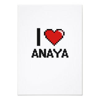 """Amo el diseño retro de Anaya Digital Invitación 5"""" X 7"""""""