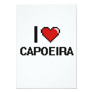Amo el diseño retro de Capoeira Digital Invitación 12,7 X 17,8 Cm
