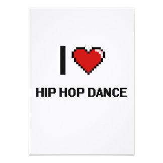 """Amo el diseño retro de Digitaces de la danza de Invitación 5"""" X 7"""""""