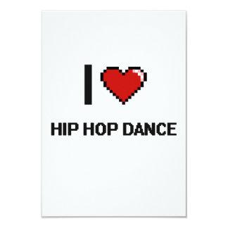 """Amo el diseño retro de Digitaces de la danza de Invitación 3.5"""" X 5"""""""