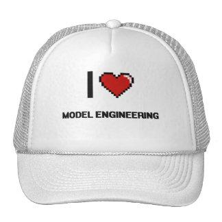 Amo el diseño retro de Digitaces de la ingeniería Gorros Bordados