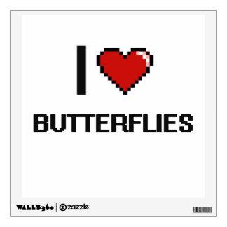Amo el diseño retro de Digitaces de las mariposas