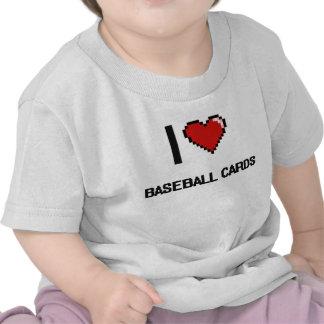 Amo el diseño retro de Digitaces de las tarjetas Camisetas