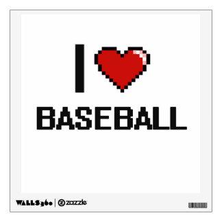 Amo el diseño retro de Digitaces del béisbol