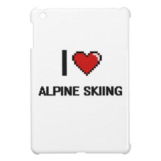 Amo el diseño retro de Digitaces del esquí alpino