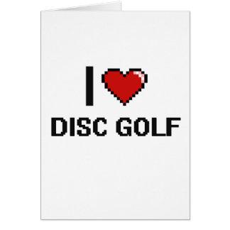 Amo el diseño retro de Digitaces del golf del Tarjeta De Felicitación