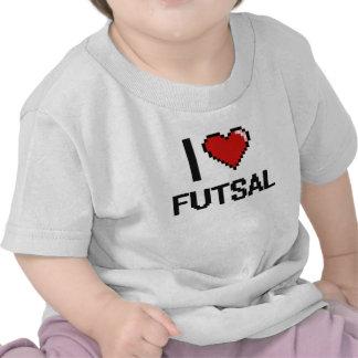 Amo el diseño retro de Futsal Digital Camisetas