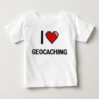 Amo el diseño retro de Geocaching Digital T-shirt